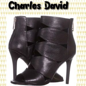 Charles David Shoes - Charles David Reform Peep Toe Booties. Sz 7.5